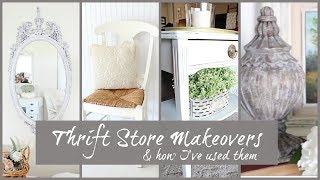 Thrift Store Makeovers & How I've Used Them | Farmhouse Cottage Style