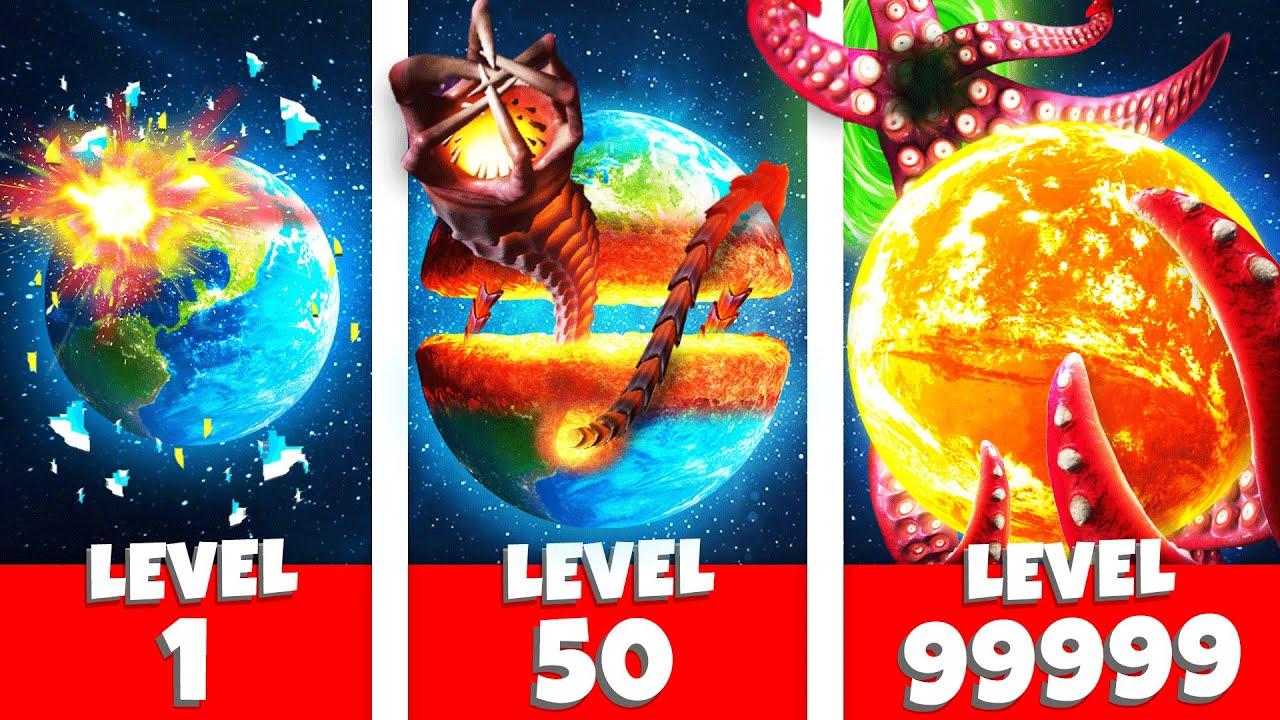 PLANET EARTH vs MAXIMUM LEVEL DESTRUCTION (Solar Smash Funny Gameplay)