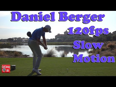 DANIEL BERGER 120fps DTL SLOW MOTION DRIVER GOLF SWING 1080 HD