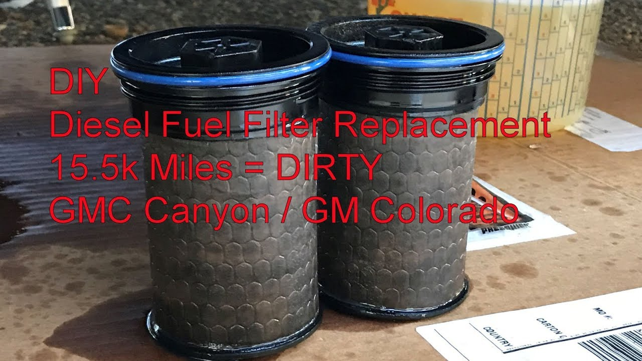 diy gmc canyon gm colorado diesel fuel filter replacement guide 2005 Chevy Colorado Fuel Filter