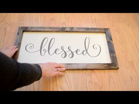 DIY Farmhouse Signs / DIY Wall Decor / DIY Wall Quotes Sign / DIY Wooden Sign