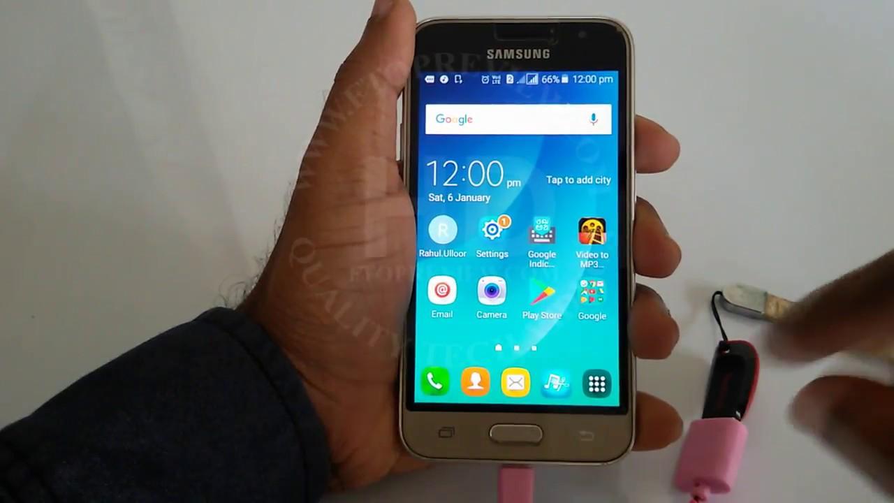 Samsung Galaxy J1 4G OTG Test with USB Pendrive   Samsung OTG Support Test  2018   Samsung J1 4G