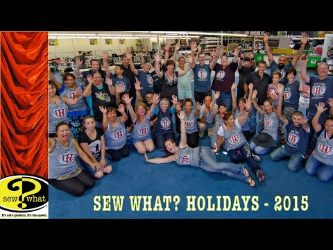 HAPPY HOLIDAYS from the SEW WHAT FAMILY 2015.