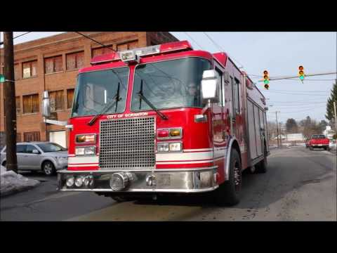 scranton fire department responding compilation  2017