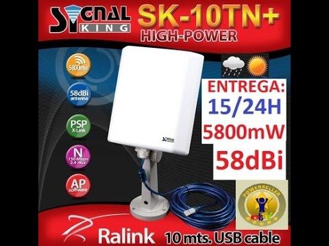 Antena Usb Wifi Wireless Exterior 58dbi 5800wn 6800mw Net Ate 30 Km 10mts Cabo Usb Internet