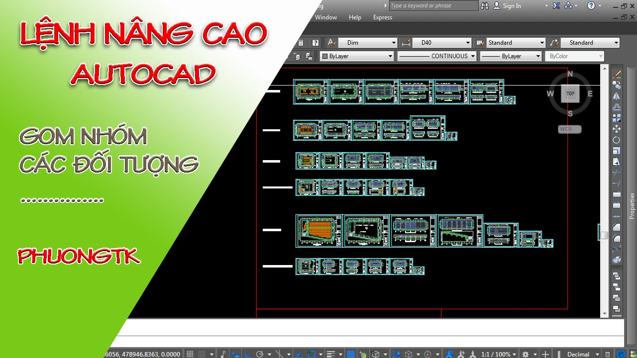 ✔ Lệnh Nâng Cao - Gom Nhóm Các Đối Tượng - Autocad PhuongTk | NESA iCAD