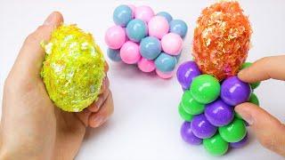 Ball Pillars Clay Cracking and Satisfying Egg Slime ASMR