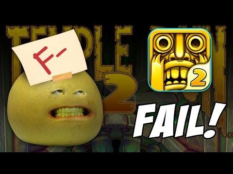 The Annoying Orange - Grapefruit Fails at Temple Run 2