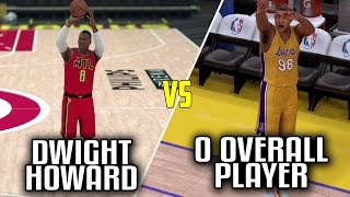 CAN DWIGHT HOWARD BEAT A 0 OVERALL PLAYER IN A THREE POINT CONTEST? NBA 2K17!