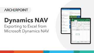 Dynamics NAV 2017 - Exporting to Excel