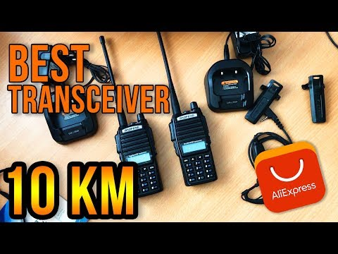 BAOFENG UV-82 10 KM DUAL BAND RADIO TRANSCEIVER FROM ALIEXPRESS UNBOXING