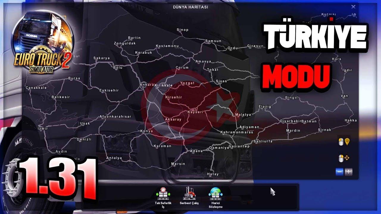 Ets 2 Türkiye Haritası Modu Nasıl Kurulur Yapılır 131 Youtube
