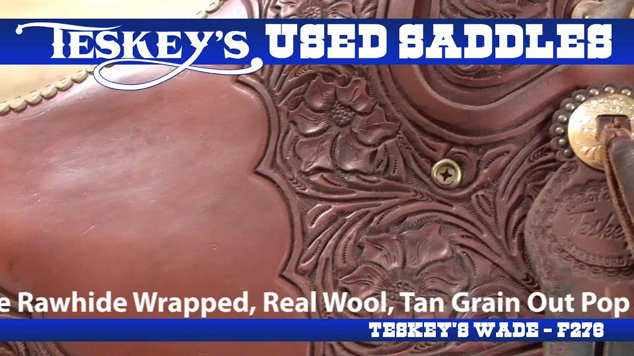 We buy and sell used saddles at Teskey's!