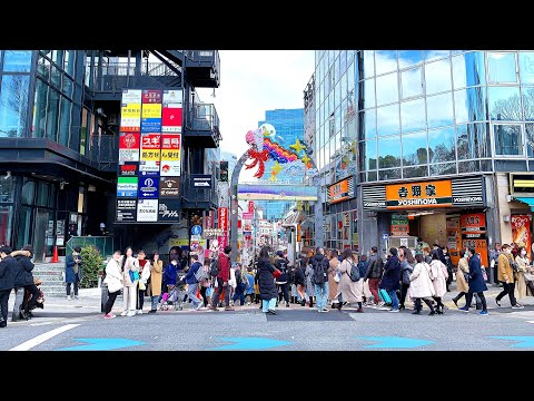 【4K】[東京散歩] 原宿 竹下通り キャットストリート 渋谷 2020/02/22 [Tokyo Walk] Harajuku Takeshita Street And Shibuya