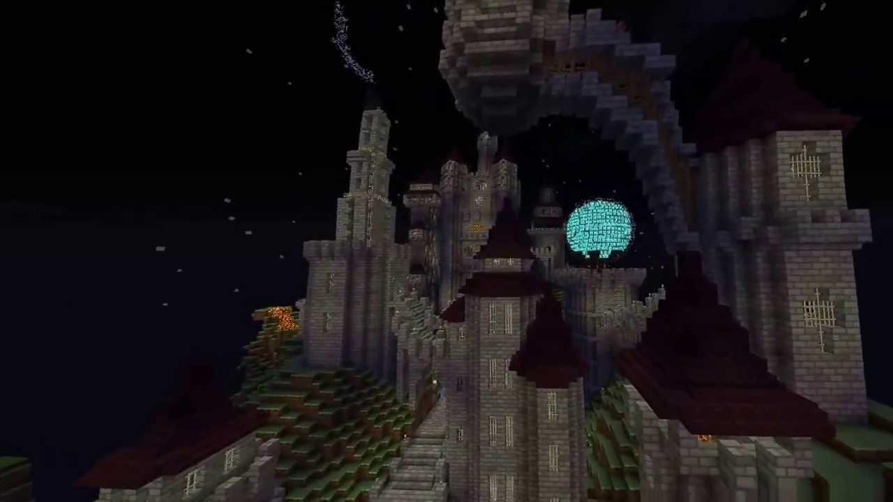 Minecraft  Tekkit Build - The Mountain Fortress