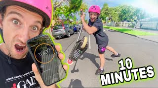 LEARNING KICKLESS FLAT IN UNDER 10 MINUTES ON PRO SCOOTER!