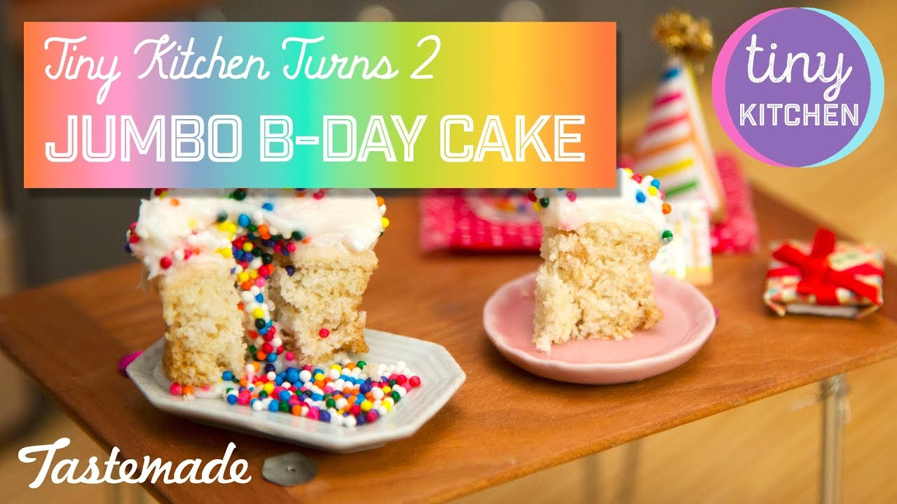 Tiny Jumbo Birthday Cupcake I Tiny Kitchen Turns 2 Youtube
