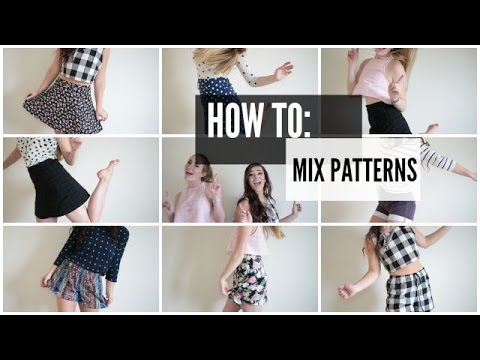 How To Mix Patterns Mix Match Lookbook Youtube
