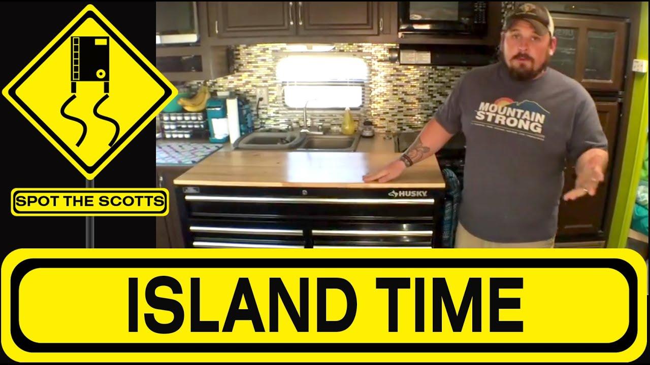 Our Husky Tool Cart Kitchen Island Diy Idea For Rv