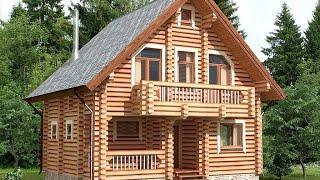 Проект дома из оцилиндрованного бревна ДСЭ 16(Это цена только за сам домик, это без допов, фундамента и тд, это только коробка с работой 18 бревно 7600 руб.м2..., 2015-12-27T15:05:25.000Z)