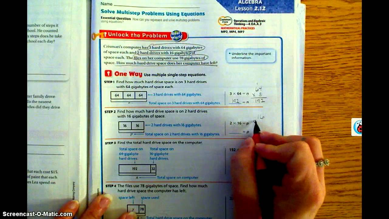 4th Grade Go Math Worksheets With Answer Key