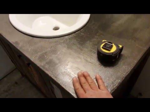 Como hacer un meson rustico de concreto para bao  YouTube