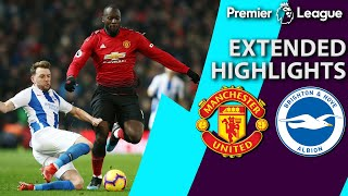Manchester United V. Brighton   Premier League Extended Highlights   1/19/19   Nbc Sports