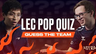 Guess The Team | LEC Pop Quiz | 2021 Spring