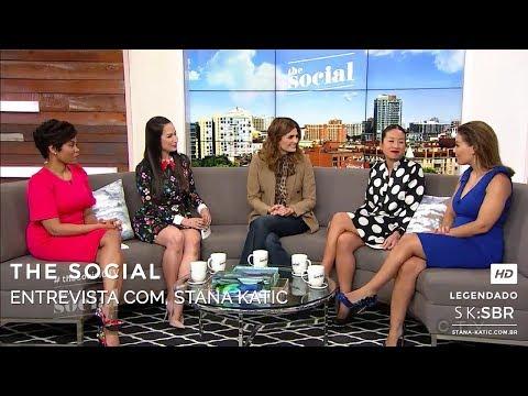The Social: Entrevista de Stana Katic HD Legendado