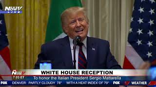 HONORING A PRESIDENT: President Trump Honors Italian President at White House