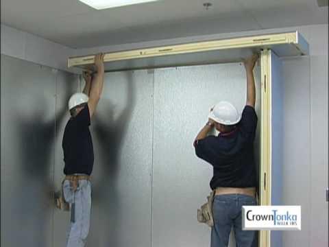 crowntonka walk in cooler installation video youtube. Black Bedroom Furniture Sets. Home Design Ideas