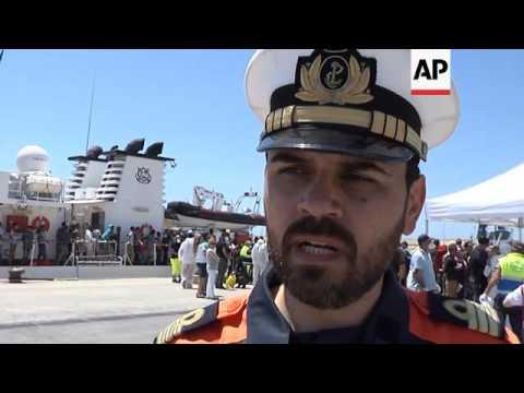 Migrants rescued off Libya arrive in...