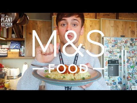Tom Daley tasting the new M&S Food vegan range   M&S FOOD