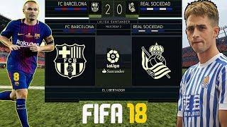 FIFA 18 new walkthrough gameplay#27- Barcelona vs Real Sociedad- La Liga Prediction