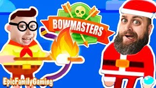 Ultimate Bowmaster?  Jim vs Santa Claus Battle it out Bowmasters Style! by Epic Family Gaming