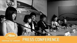 MANBIKI KAZOKU - Cannes 2018 - Press Conference - EV