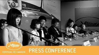 MANBIKI KAZOKU - Cannes 2018 - Press Conference - EV