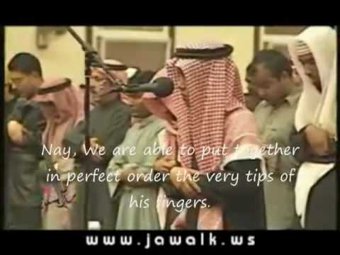Muhammad Taha al-Junayd, a young prodigy, leading the Muslim prayer