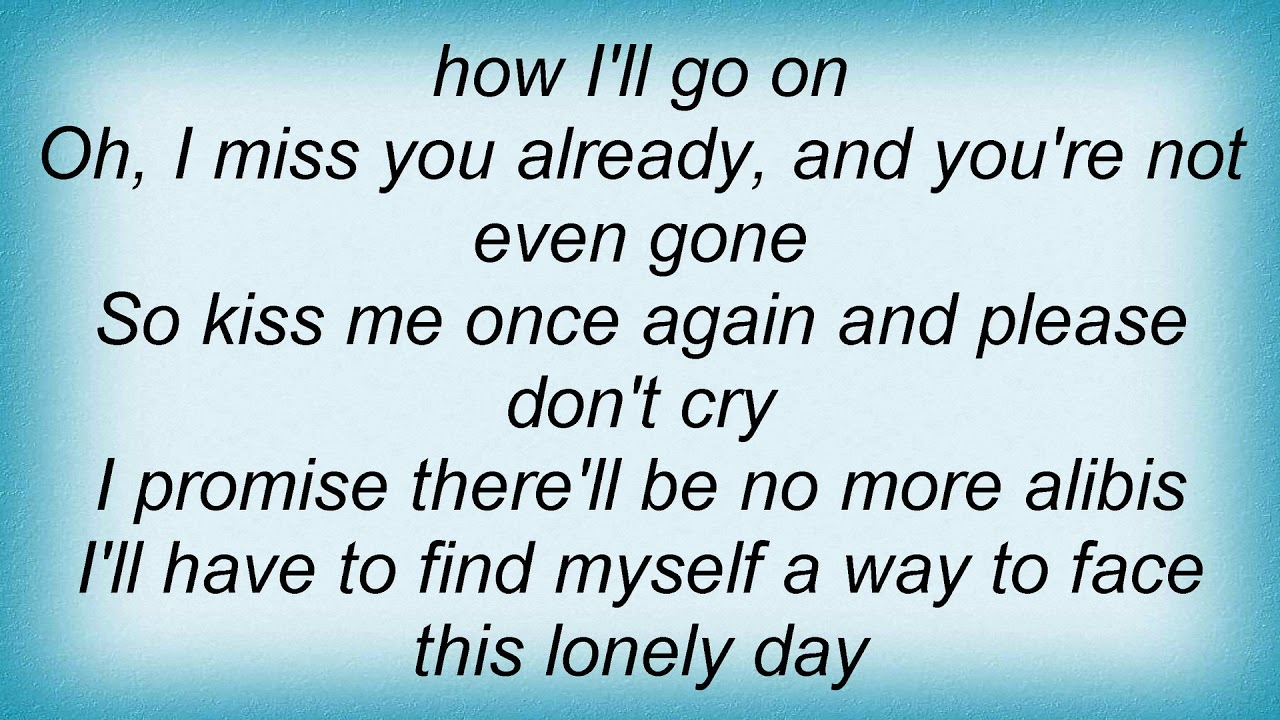 Miss you again lyrics