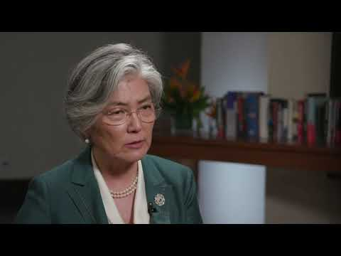 Foreign Minister Kang Kyung-wha speaks in Bloomberg interview