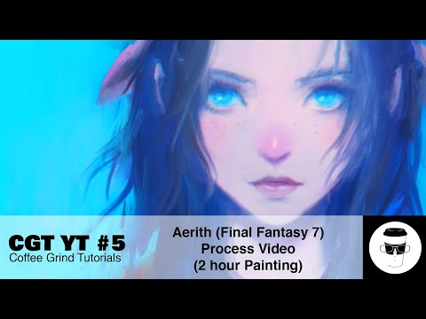 Aerith (Final Fantasy 7 REMAKE) Painting Process (Coffee Grind Tutorials Youtube Series #5) from YouTube · Duration:  17 minutes 48 seconds