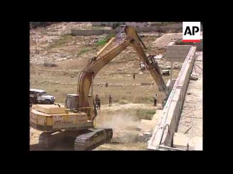 Israel - Demolition Of Palestinian Home
