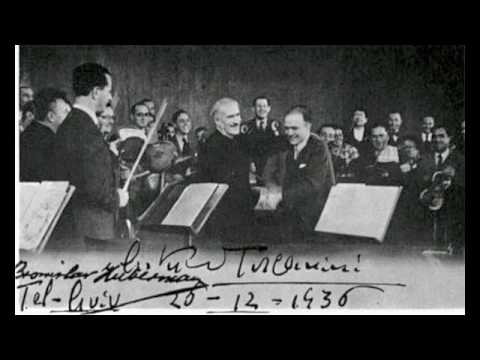 Toscanini conducts Palestine Symphony Orchestra 1936 (rare audio fragment)