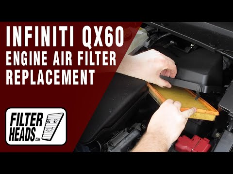 How to Replace Engine Air Filter 2015 Infiniti QX60 V6 3.5L