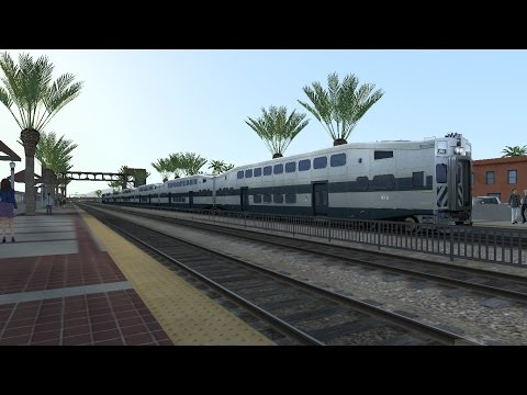 Train Simulator 2015 HD: Metrolink Train 607 Bombardier BiLevel Cab Ride Oceanside - Union Station