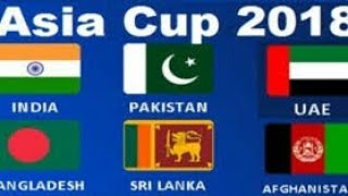 Asia Cup 2018  Full Schedule & Time Table