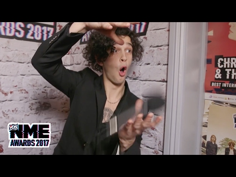 Matty Healy says he should win Godlike Genius 2018 @ VO5 NME Awards 2017
