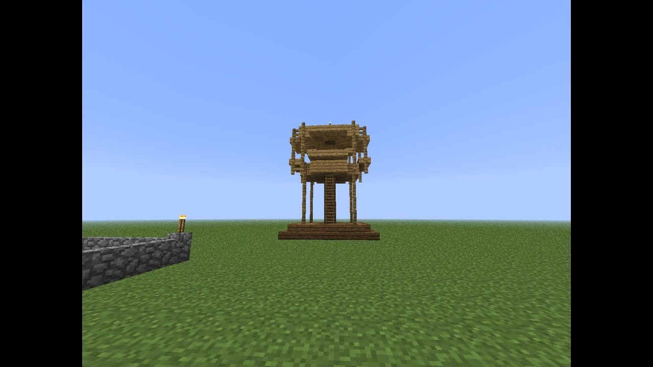 Tutorial : Minecraft How To Make An Archery Tower 1.6.2