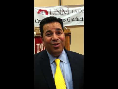 Rep. Ben Ray Luján at the UNM Taos commencement