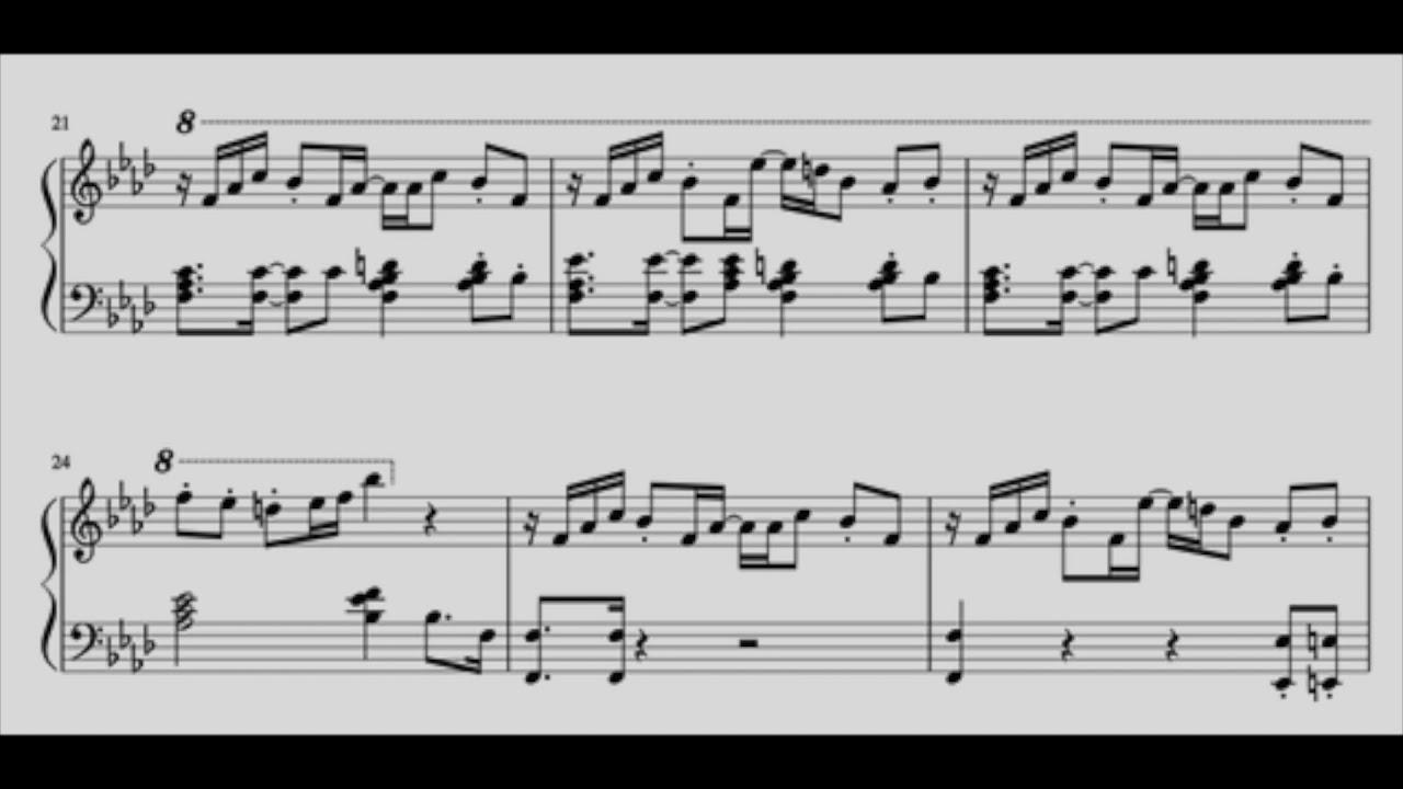 Deltarune Checker Dance Piano Sheets Youtube